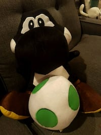 "14"" Black yoshi+egg plush toy for sale."