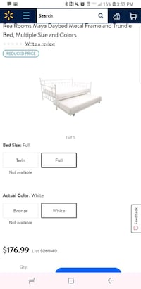 white full size daybed and trundle San Diego, 92121
