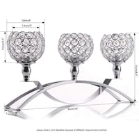 VINCIGANT Silver Crystal Candle Holders / Fireplac Toronto