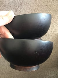 Set of 2 wooden bowls - good for salads, or even decor.  Check out my other items! Ashburn, 20147