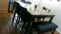 rectangular brown wooden table with four chairs dining set Orange, 92868