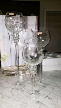 Set of three candle holders