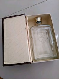 Vintage Whisky Bottle In Book-like Case