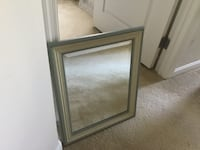 Green framed beveled mirror Rockville