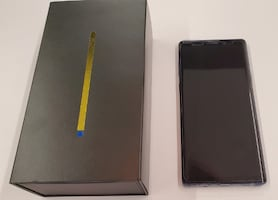 Samsung Galaxy Note 9 in factory super mint condition with box and accessories.