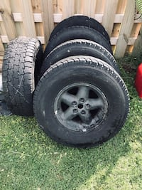 Jeep TJ rims and tires Baltimore, 21220
