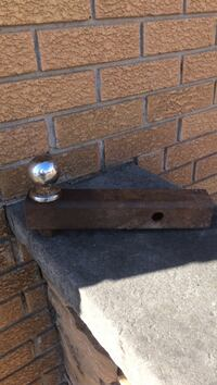 Black and gray trailer ball hitch