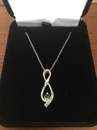 Diamond and Emerald Infinity Necklace - Sterling Silver (Kay Jewelers) Charleston, 29492