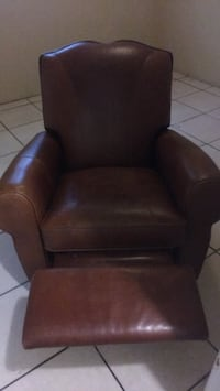 black leather padded sofa chair Tampa, 33605
