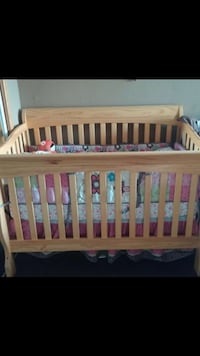 Baby's brown wooden crib Ontario, 91762
