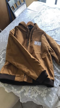 Men's XXL quilted carhart material jacket never worn Calgary, T2C 4S6