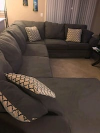 Grey sectional sofa with throw pillows New Albany, 43054