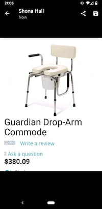 BNIB Guardian commode