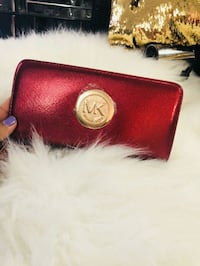 red Michael Kors leather wristlet Brampton, L6T 1Y7