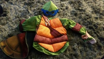Boys Leonardo ninja turtle muscle costume halloween/pretend play
