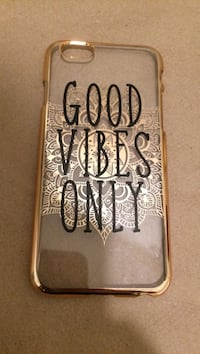 Good Vibes only print iPhone case