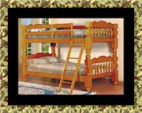Wooden twin bunkbed frame with 2 mattress Bladensburg, 20710