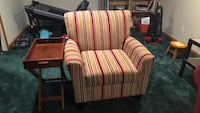 red and white striped sofa chair Seven Hills, 44131