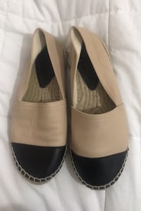 Chanel style espadrille women's shoes 39