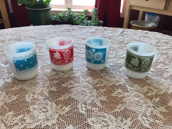 Vintage Anchor Hocking mugs