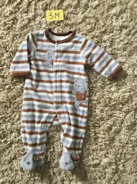 blue and white stripe onesie Piedmont, 29673