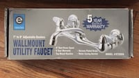 """Sink Faucet Wall Mount 7"""" To 9"""" Adjustable Chrome 6"""" Faucet Midvale, 84047"""