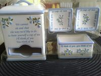 White and blue floral ceramic Tea Accessories Leominster, 01453