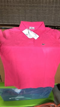 Authentic Women's pink lacoste polo shirt Brampton