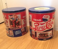 Lot of two vintage Pepsi Cola Collectible Large Tins Mississauga, L4X 1S2