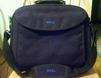 Black and leather Dell laptop case great condition