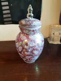 Multi-Colored Glass Jar With Lid Barrie, L4M
