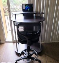 Wooden Standing Desk with Chair Marina Del Rey, 90292