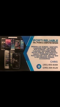 I fix all broken phones iphone 4,4s,5,5c,5s,6,6+,6s,6sq+,7,7+,8,8+,x and all samsung phones repairs Takoma Park