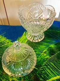 Shannon Crystal design from   Ireland  candy dish with lid  / Beautiful crystal for the home Alexandria, 22311