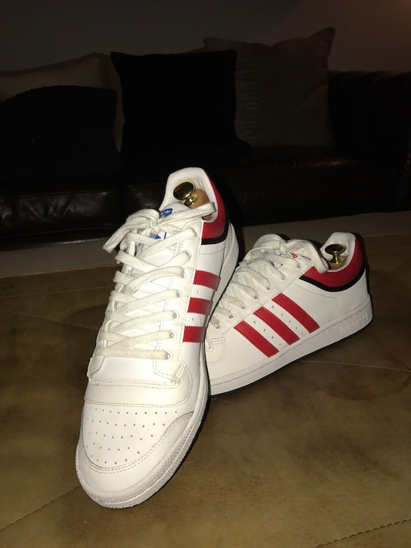 e0d68e6fa0c4 Used White and red Adidas Top Ten low tops size 14 for sale in New York -  letgo