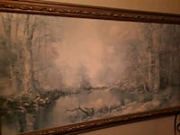 brown wooden framed painting of trees Burnaby, V3N 1A9