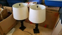 two white and brown table lamps Sparks, 89436