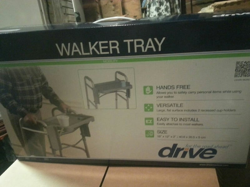 gray Drive walker tray box 05e61272-0727-4253-b2d2-dc0e56464a05