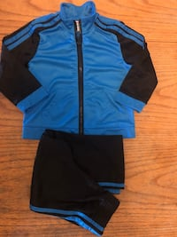 Baby Cute Black /Royal Blue Jump Suit Jacket /Pants Size 24 Months Adelanto, 92301