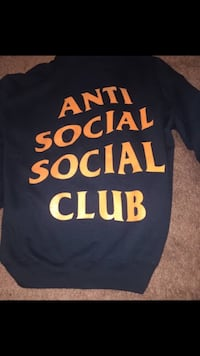 Anti social social club x undefeated paranoid hoodie SIZE SMALL Springfield, 22153
