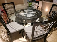 Glass table and 5 chairs Glen Allen