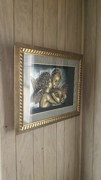 two angel shadowbox with gold frame Centreville, 20121