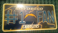 Chargers License Plate #1 Fan $5 Fresno, 93710