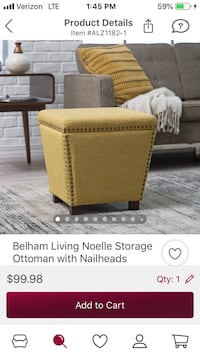 Ottoman new never used . Retails at 99$ Etna, 43062