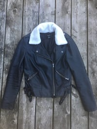 Shearling collared leather jacket  Markham, L6C 1W9