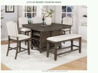 6pcs counter height table (storage for wine & cups Riverside, 92509