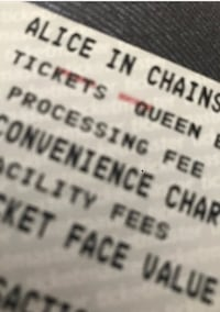 Alice in Chains - one ticket GA seating at Queen Elizabeth Surrey, V3X 3J2