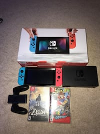 Blue nintendo switch with box Ashburn, 20147