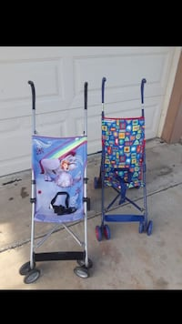 2 FOLDABLE STROLLERS