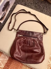 Women's brown leather sling bag NAPPA Vancouver, V5M 3M4